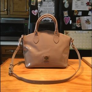 D&B Taupe Patent Leather Shoulderbag (LIKE NEW)